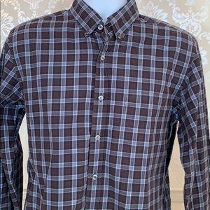 Men's J. Crew Washed Grey Plaid Button-Down Shirt